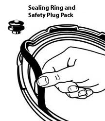 Pressure Cooker Sealing Ring/Safety Plug Pack (4 & 6 Quart)