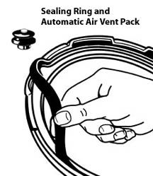 Pressure Cooker Sealing Ring/Automatic Air Vent Pack (3 & 4 Quart)