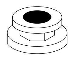 Black Rubber Adaptor - Pressure Gauge
