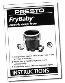 FryBaby® electric deep fryer Instruction Manual