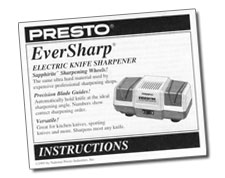 EverSharp® electric knife sharpener Instruction Booklet