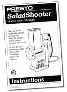 Instruction Manual for SaladShooter® slicer/shredder