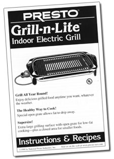 Instruction Manual for Grill-n-Lite™ indoor electric grill