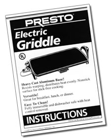 Electric Griddle Instruction Manual