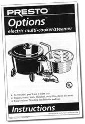 Options™ Multi-Cooker/Steamer Instruction Manual