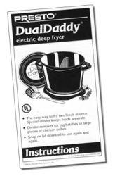 Instruction Folder for DualDaddy™ electric deep fryer