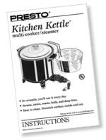 Kitchen Kettle™ Multi-Cooker/Steamer Instruction Manual