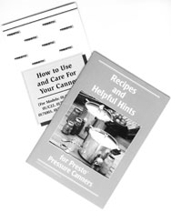 Pressure Canner Instruction/Recipe Book