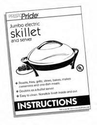 Instruction Manual Presto® Electric Skillet (Stock No. 06840)