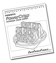 Instruction Manual for the PowerCrisp™ microwave bacon cooker