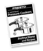 Instruction/Recipe Book for Pressure Cooker