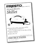 Instruction Manual for 16-inch Electric Skillet