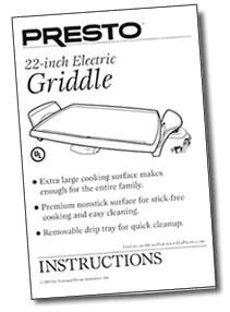 Instruction Manual for 22-inch Electric Griddle