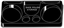 Storage Tray for the ShineOn™ Shoe Polisher