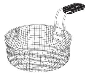 Steam/Fry Basket Assembly with Handle