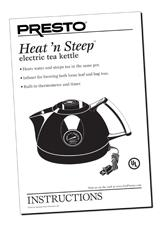 Instruction Manual for the Heat'nSteep™ electric tea kettle