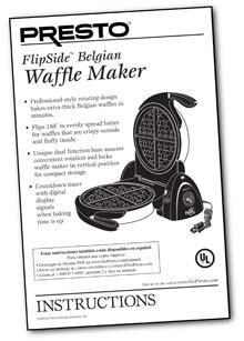 Instruction Manual for the FlipSide™ Belgian Waffle Maker (Model No. 0351003)