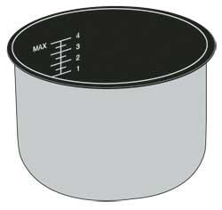 Removable Pot for 8-Cup Electric Rice Cooker