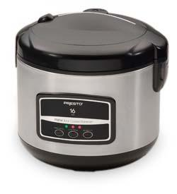 16-Cup Digital Stainless Steel Rice Cooker/Steamer