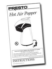 Instruction Book for Hot Air Popper