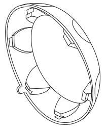 Retaining Collar for SaladShooter® slicer/shredder