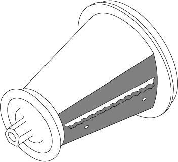 Ripple Slice Cone for the Presto® Professional SaladShooter® slicer/shredder