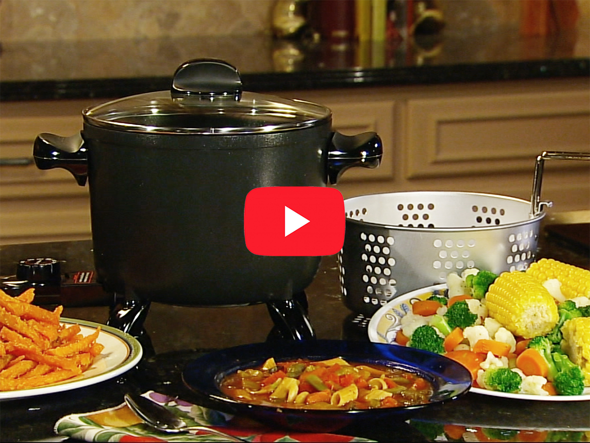 Presto Kitchen Kettle Multi Cooker Steamer Product Info Video