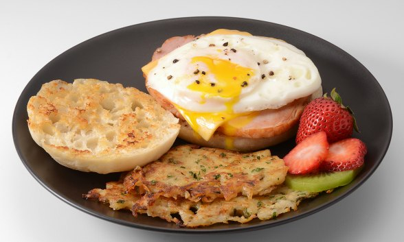 Canadian Bacon Breakfast Sandwich