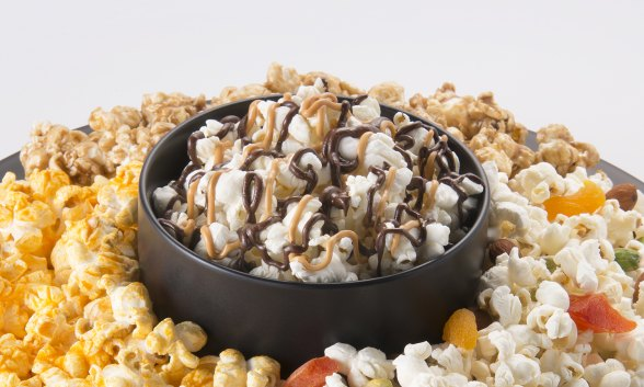 Popcorn with Chocolate-Butterscotch Drizzle
