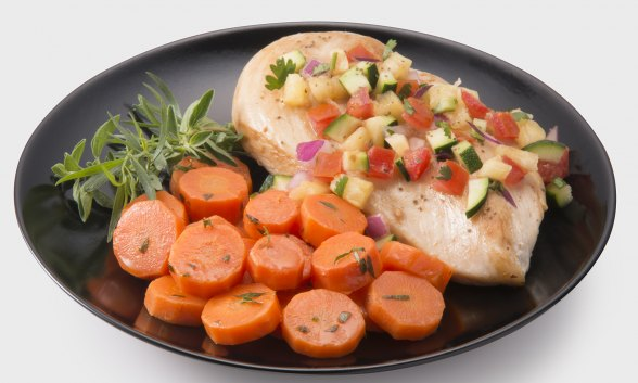 Chicken Breasts with Pineapple Salsa