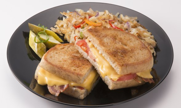 Triple Cheese and Bacon Grill