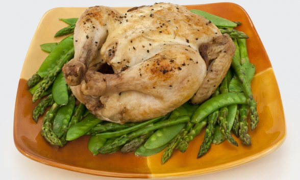 Roast Chicken With Spring Vegetables Skillets Recipes