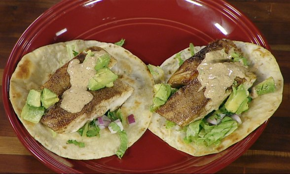 Fish Tacos with Coastal Taco-lade Sauce
