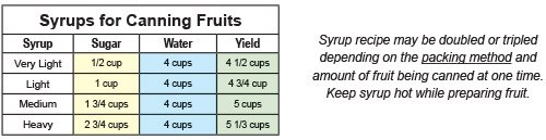Information on Canning Fruits