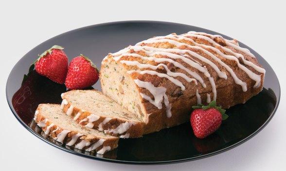 Glazed Zucchini Walnut Cake