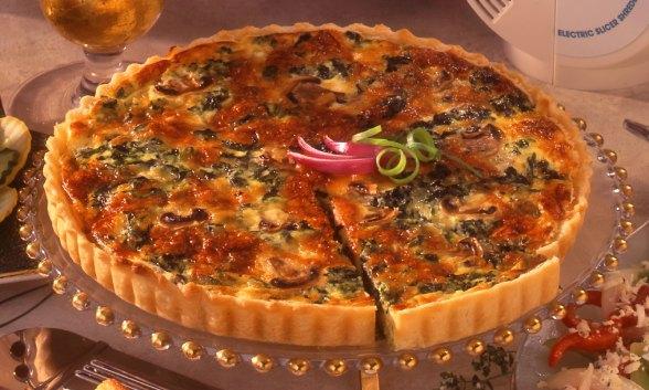 Spinach-Mushroom Gouda Tart