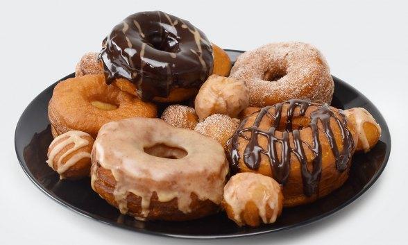 Shortcut Donuts with Chocolate Espresso Glaze