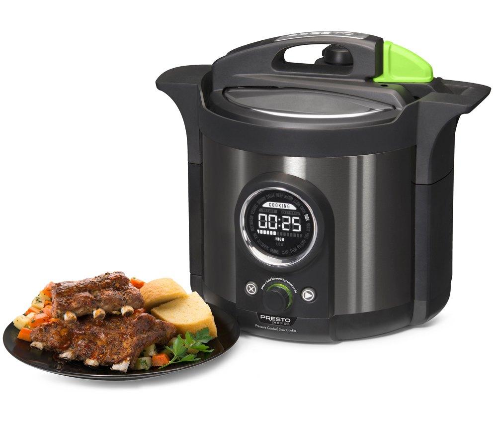 Presto Precise® 6-quart Multi-use Electric Pressure Cooker Plus