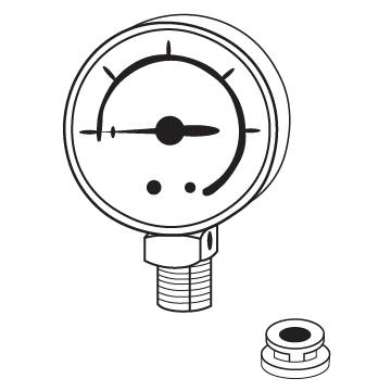 Pressure Canner Steam Gauge (with Black Rubber Adaptor)