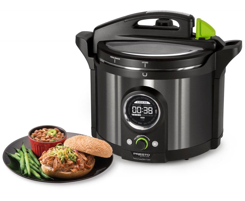 Presto Precise® 10-quart Multi-use Electric Pressure Cooker Plus
