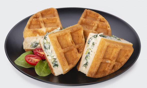 Spinach Artichoke Stuffed Waffle