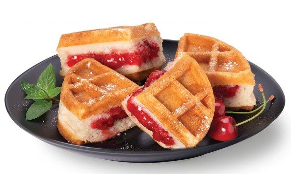 Cherry Pie Stuffed Waffle