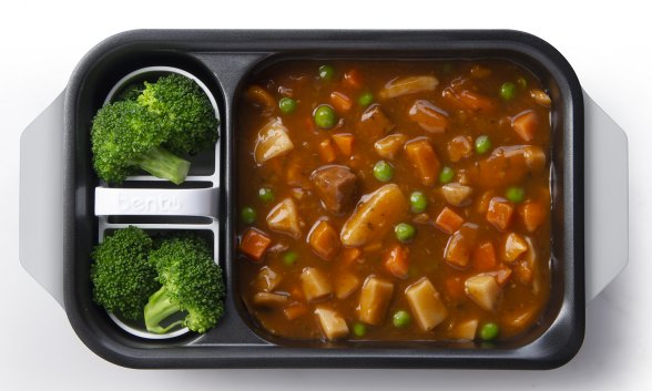 Canned Soup/Stew with Broccoli Florets