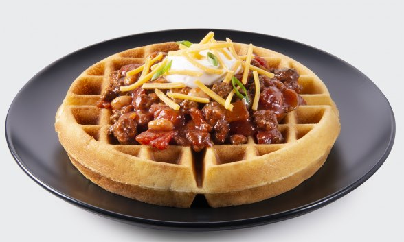 Cornmeal Waffles with Cheese and Chiles